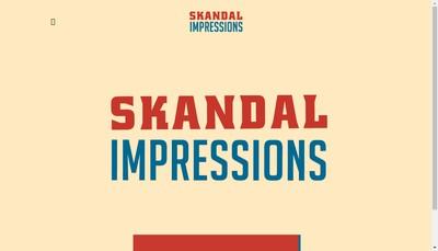 Site internet de Skandal Impressions