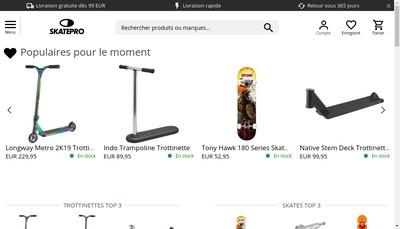 Site internet de Skatepro APS