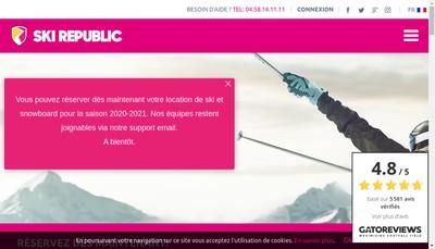 Site internet de Ski Republic