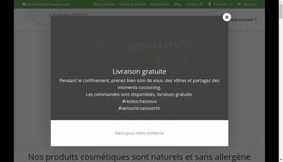 Site internet de Skinhaptics