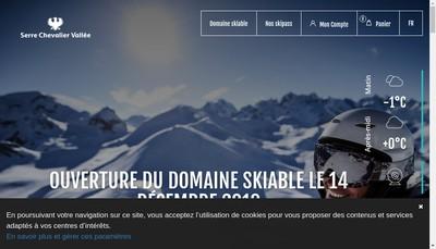 Site internet de Scv Domaine Skiable