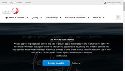 Site internet de Skretting France