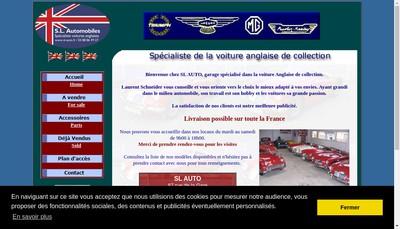 Site internet de Sl Automobiles