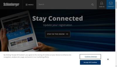 Site internet de Services Petroliers Schlumberger