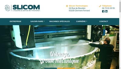Site internet de Slicom Technologies