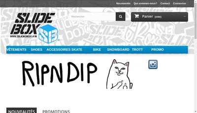 Site internet de Slidebox