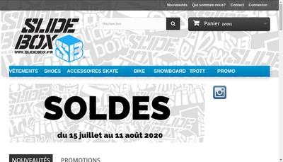 Site internet de Slide Box