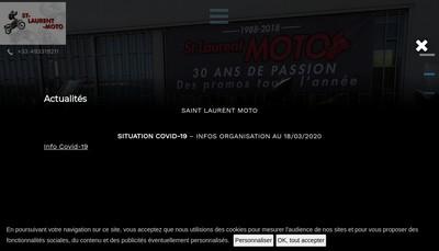 Site internet de St Laurent Moto
