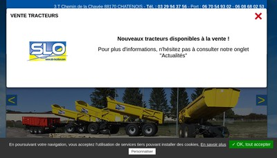 Site internet de Slo Location-Svic