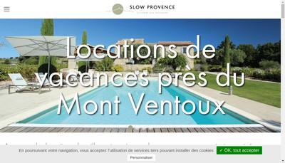 Site internet de Slow Provence