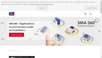 Site internet de Sma France