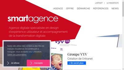 Site internet de Groupe Smart Agence