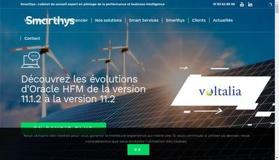 Site internet de Smarthys Consulting