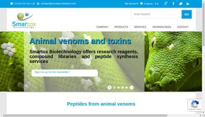 Site internet de Smartox Biotechnology