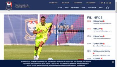 Site internet de Stade Malherbe Caen Calvados Bas Normand