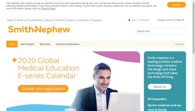 Site internet de Smith et Nephew SAS