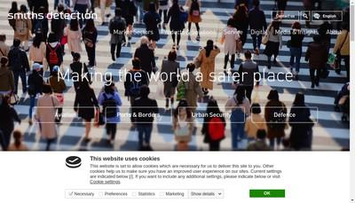Site internet de Smiths Detection France