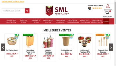 Site internet de Sml Food Plastic Group