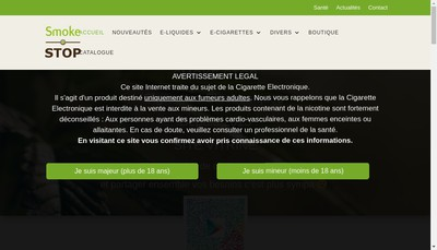Site internet de Smoke-Stop
