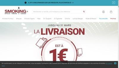 Site internet de Smoking Fr