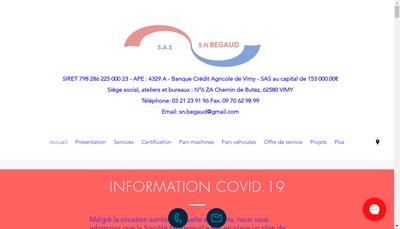 Site internet de SN Begaud