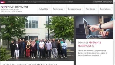 Site internet de Sncf Developpement