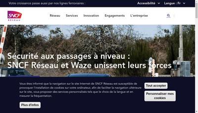 Site internet de Sncf Reseau