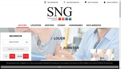 Site internet de Societe Nationale de Gestion