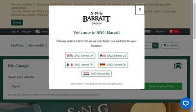 Site internet de SNG Barratt France