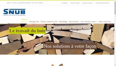 Site internet de Societe Normande d'Usinage de Bois
