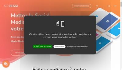 Site internet de So-Buzz