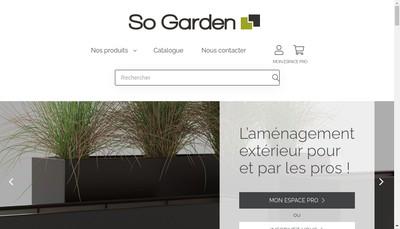 Site internet de So Garden