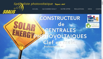 Site internet de Soalis