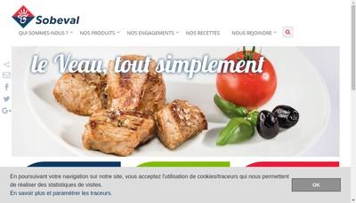 Site internet de Sobeval Rhone