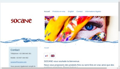 Site internet de Socane