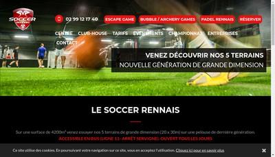 Site internet de Soccer Rennais