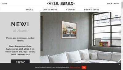 Site internet de Social Animals