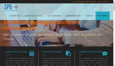 Site internet de Societe portage