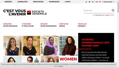 Site internet de Societe Generale