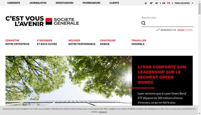 Site internet de Societe General d'Investissement
