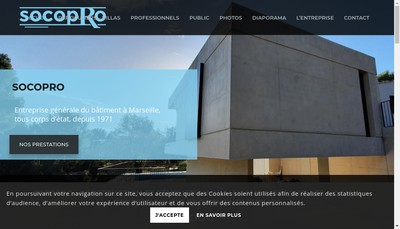 Site internet de Socopro