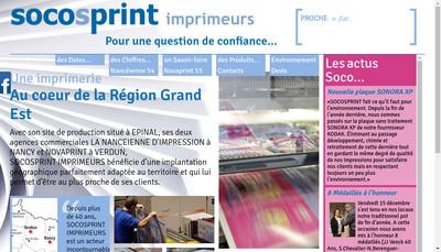 Site internet de Socos'Print Imprimeurs