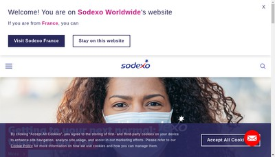 Site internet de Sodexo Afrique