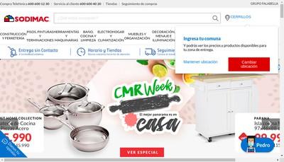 Site internet de Sodimac