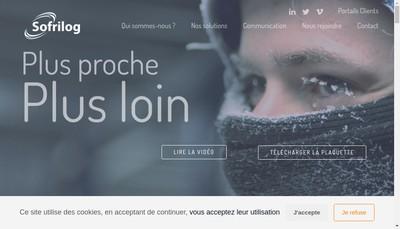 Site internet de Sofrilog Transport