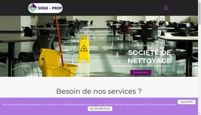 Site internet de Soge Prop