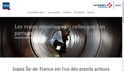 Site internet de Sogea Ile de France