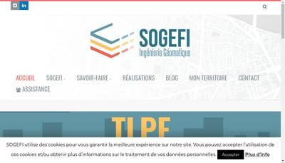 Site internet de Sogefi Ingenierie Geomatique