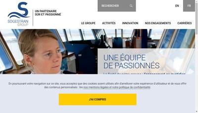 Site internet de Sogestran Shipping