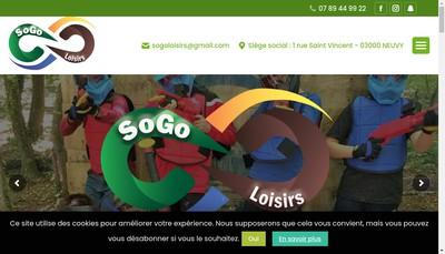 Site internet de Sogo Loisirs